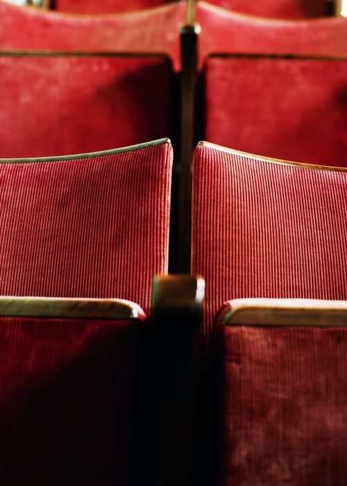 Full frame shot of red seats in theater